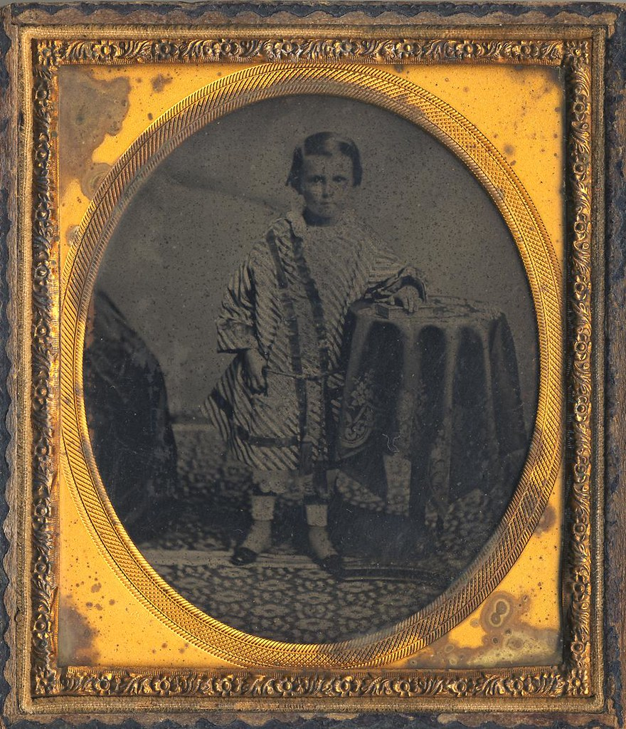 Little boy in very formal clothes - late 1850s