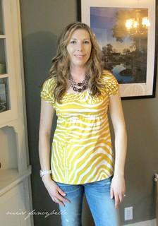Sis Boom Meghan top in Lauralee fabric