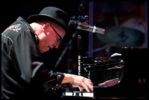 Bob Andrews  at WWOZ's Piano Night.  Photo by Ryan Hodgson-Rigsbee www.rhrphoto.com