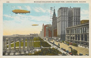 Michigan Boulevard and Grant Park - Chicago, Illinois