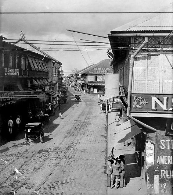 The Escolta, Manila, Philippines, Sunday, early 20th Century