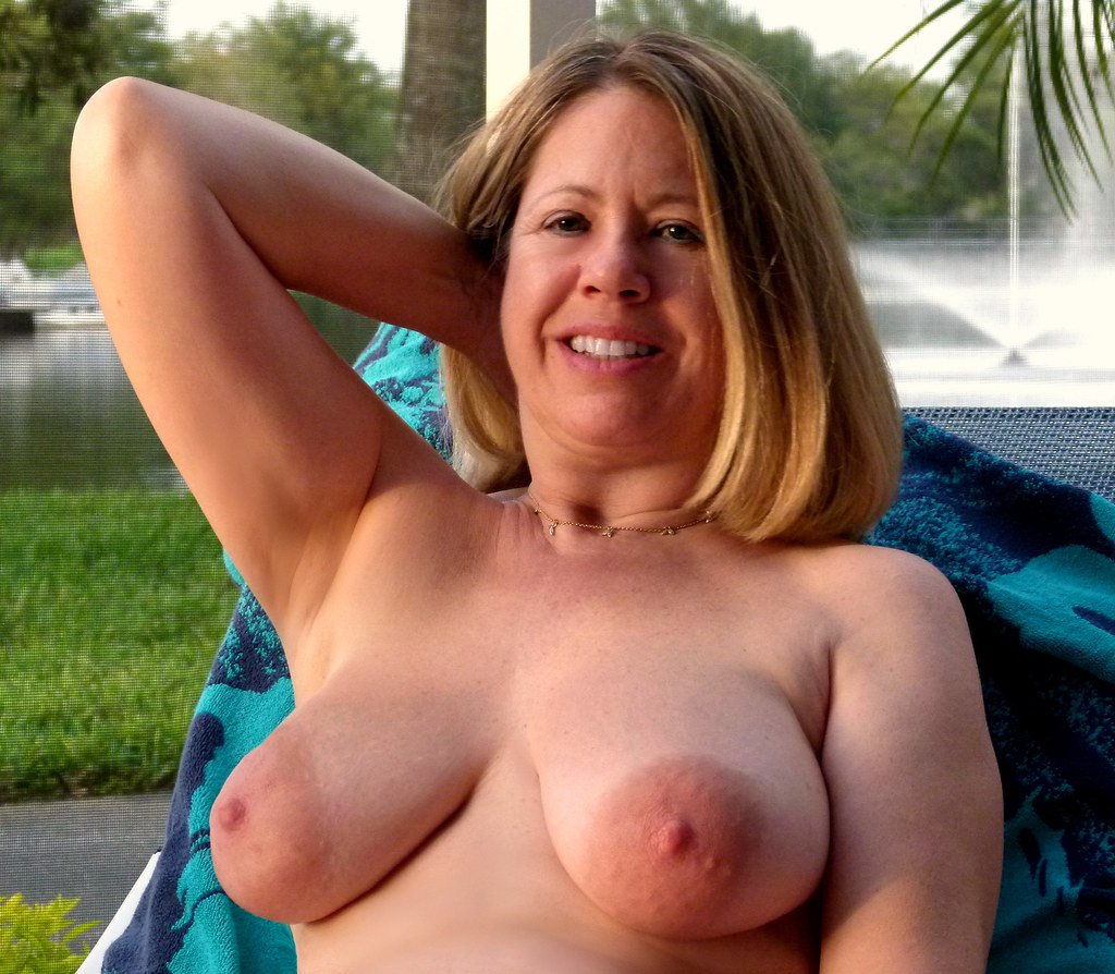 Mature bare breasts open shirt