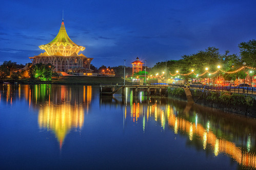city blue light building water landscape asia flickr waterfront sony places sarawak slowshutter getty alpha hdr kuching slt gettyimages dun a77 gettyimage photomatix sonyalpha flickrawards flickraward sarawakborneo dunsarawak iamflickr dewanundangannegeri alphagalleria slt77