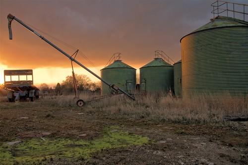 sunset colour detail grass canon saturated farm sigma silo saturation trailer elm 1770 hdr 450d