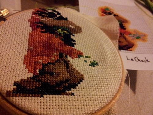 Jacket and legs finished on LeChuck cross stitch | by lilspikey