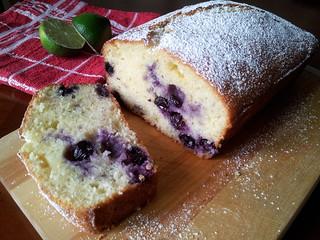 Yogurt Blueberry/Coconut/Lime Cake   by StarryGwee