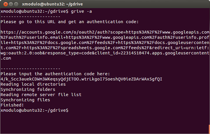 Grive: Google Drive Linux Client | How to sync Google Drive