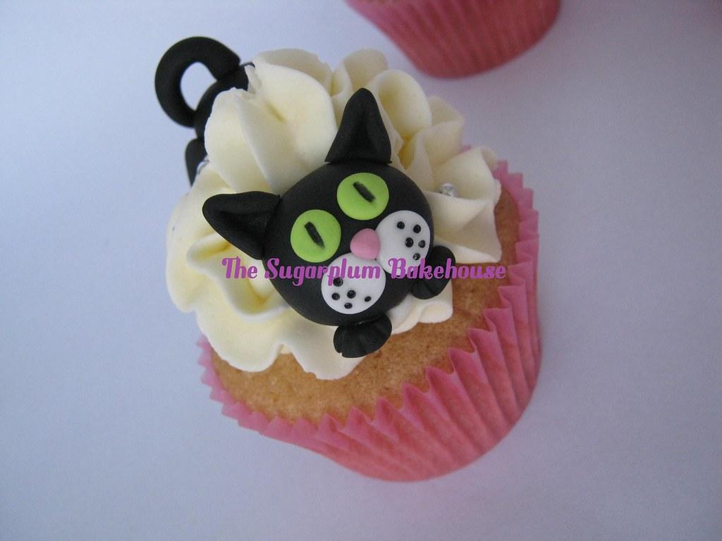 Pleasant Cat Themed Birthday Cake And Cupcakes Sam Flickr Funny Birthday Cards Online Ioscodamsfinfo
