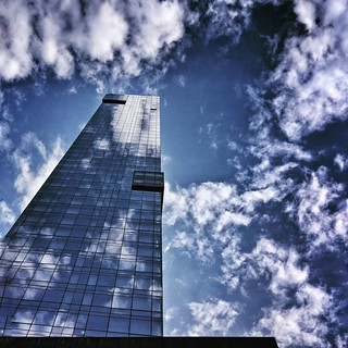 Up to the sky  #NewYork #nyc #lookingup #architecture #archilovers #modern #Glass #building #buildings #sky #cloudporn #bluesky #reflection #blue #colorful #Photo #Photography #Travel #trip #iloveny #ilovenyc #newyorkphoto #instacool #instanewyork #mynyc | by Mario De Carli