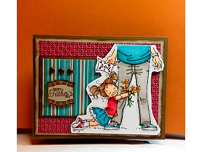 Penny Black Dad card