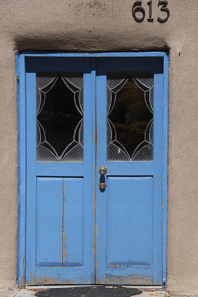 Blue Doors With Web Like Windows Santa Fe New Mexico Flickr
