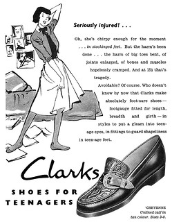 1951 Clarks Shoes ad