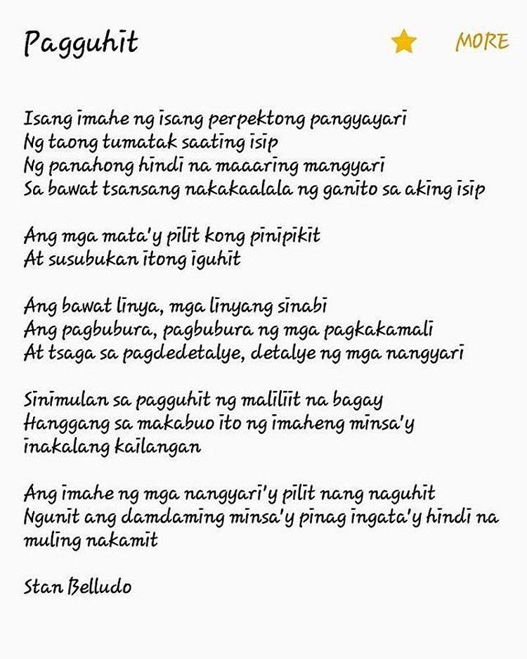 Pagguhit mula kay Stan Belludo Support Filipino writers/po