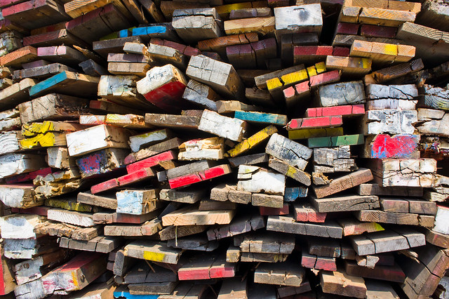 Colorful wood blocks