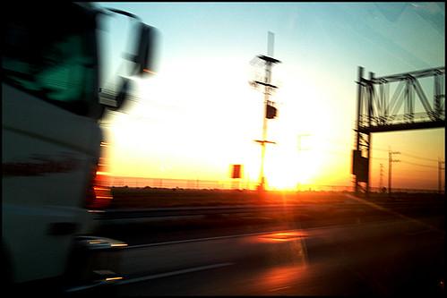 sunset evening highway 35degrees nonchok