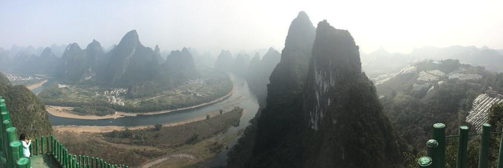 Li river, view from Xianggong Hill