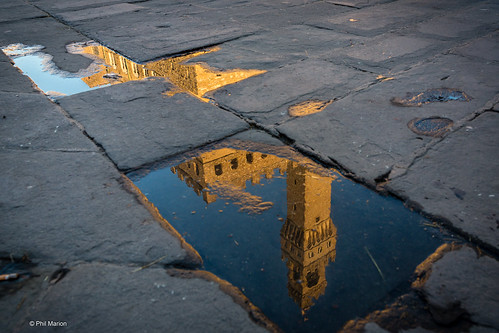 Palazzo Vecchio reflected in a puddle - Florence | by Phil Marion (176 million views - THANKS)
