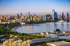 Panoramic view if Baku, Azerbaijan