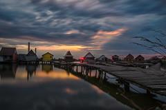 Sunset Bokod lake Hungary