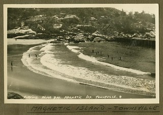 Surfing at Alma Bay, Magnetic Island near Townsville, 1932