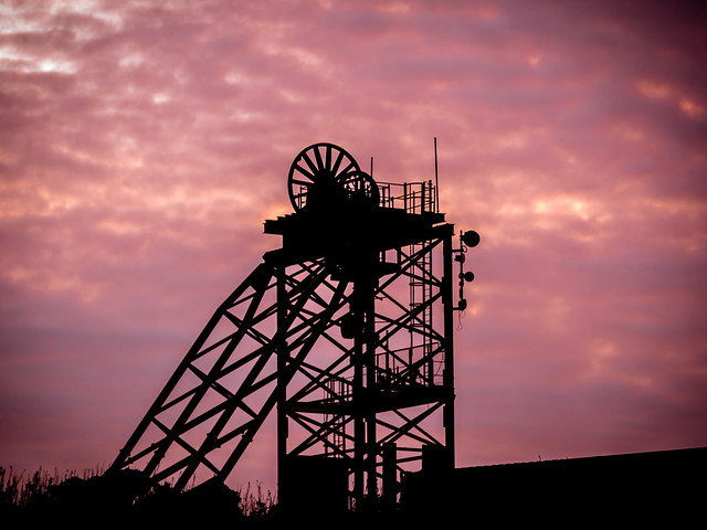 Sunset over the Old Copper Works.