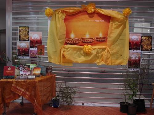 Diwali display at Linwood Library