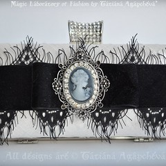 #bag #clutch #purse #wedding #cameo #lace #velvet #swarovski #jewel #bride #marriage #mcqueen #graphic #beautiful #etsy #sale #b&w #crystal #fashion #boudoir #empire #romance  #silk