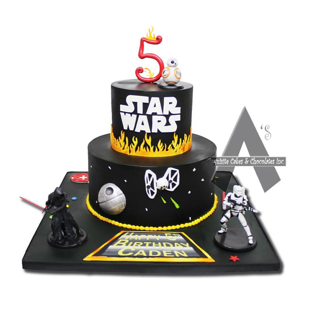 Pleasing Star Wars Birthday Cake Asexquisitecakes Customcakes Fo Flickr Personalised Birthday Cards Paralily Jamesorg