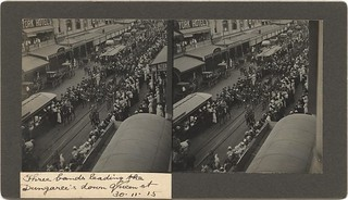Parade of the Dungarees through Queen Street, Brisbane, 1915