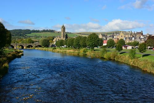 peebles scotland royalburghofpeebles scottishborders peeblesshire tweeddale rivers rivertweed priorsfordfootbridge