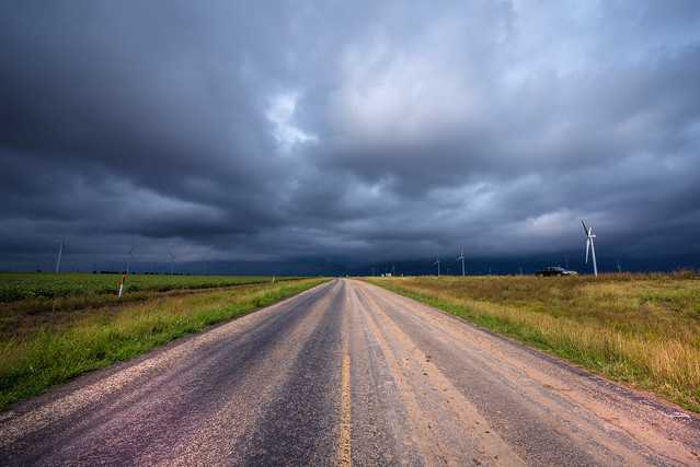Storm approaching near Route 66 - Clarendon - Texas - USA