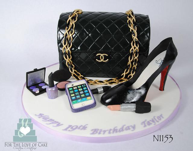 N1153-chanel-purse-louboutin-shoe-cake-toronto-oakville