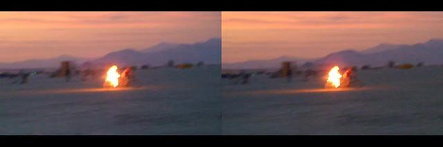 Burning Man 2016 - Riding Man 3D Cross-View