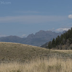 Mountains from Yellowstone River Picnic Trail
