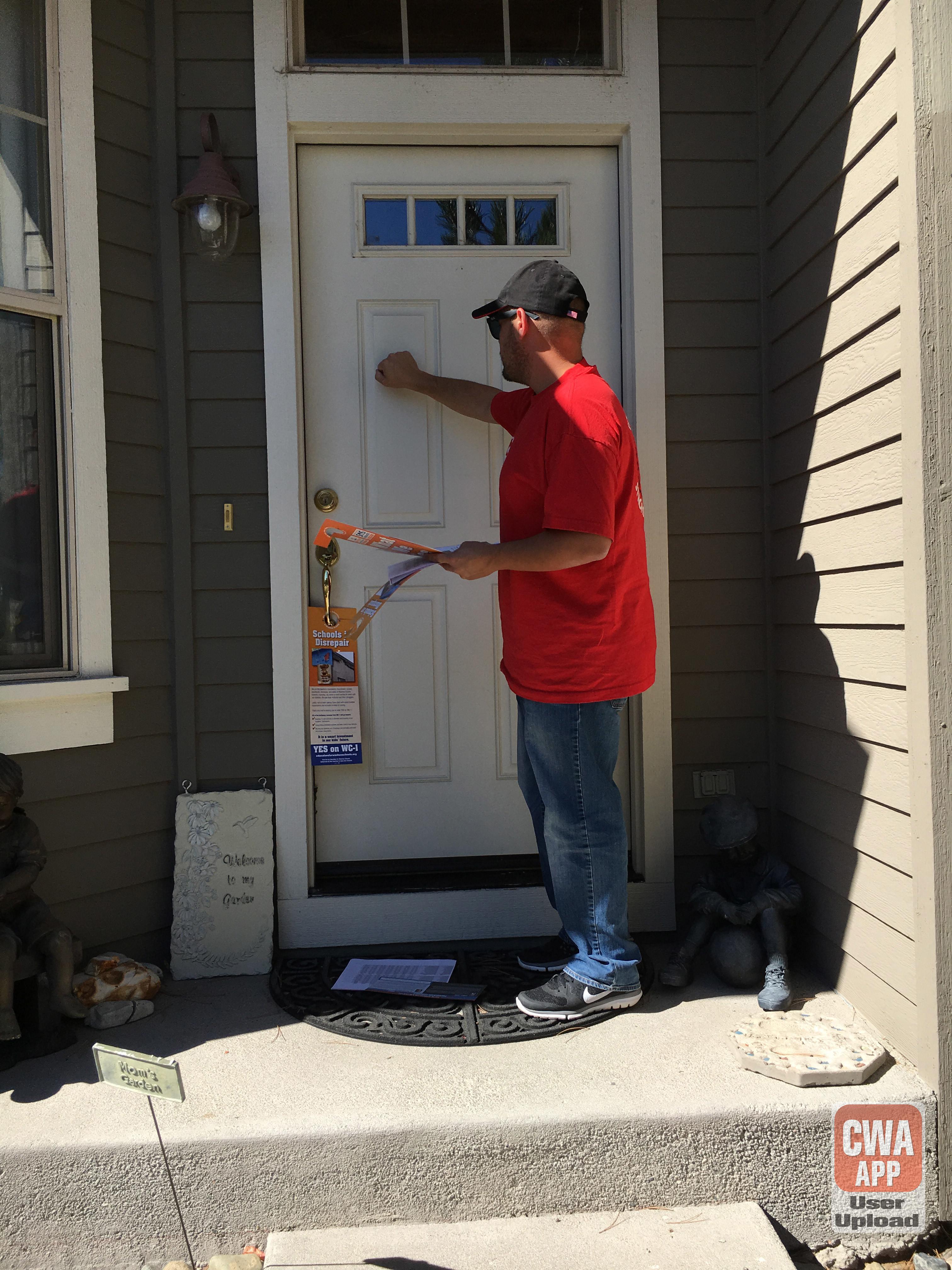CWA Labor Precinct Walks in Reno and Sparks, NV