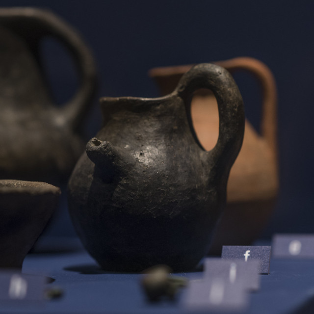 Guttus (spouted jug) from Tomb 55 at Via Madonna delle Grazie, Stabiae