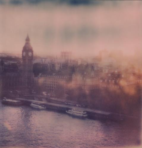 london impossibleproject impossible instantlab instantfilm expired expiredfilm film polaroid developing bigben thames housesofparlaiment sunset londoneye polaroidweek roidweek snapitseeit tipshow