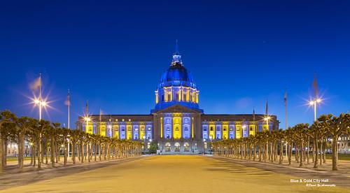 Blue And Gold City Hall | by davidyuweb