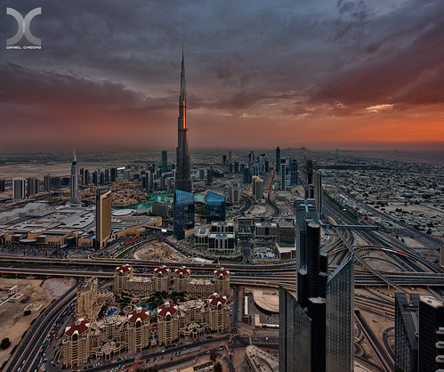 sunset bay twilight nikon dubai dusk uae dramatic business khalifa burj d800 nikkor1424mmf28