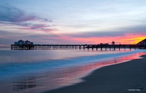 ocean california sky colors clouds buildings rainbow sand surf piers sunsets malibu pacificocean beaches southerncalifornia malibupier