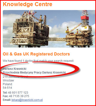 Oil & Gas UK registered  doctors in Poland | by gabinet1