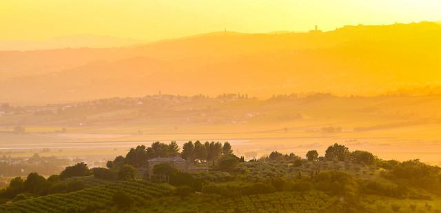 sunset in Umbria