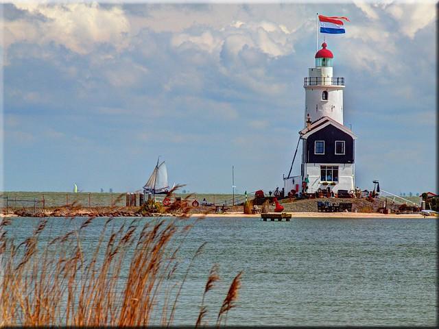 The lighthouse of Marken / Holland - Paard van Marken