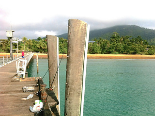 jetty with mountains mission beach queensland.jpg   by crystalcastaway