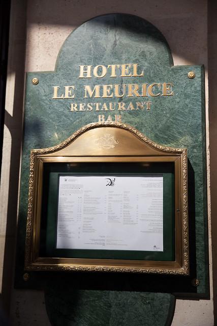 Entering Le Meurice