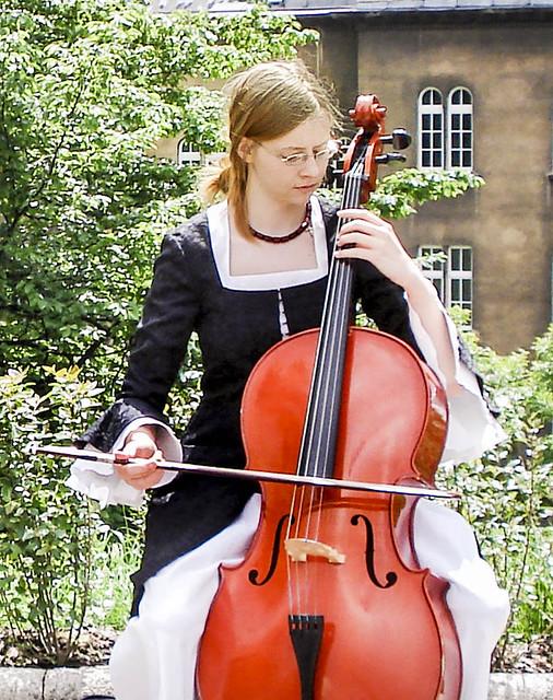 Young cellist in Krakow