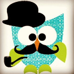 I <3 @amber_griffin! why you ask? BC she dressed my owl up w/ a #moustache #pipe & #bowlerhat! :) #ephotographyerica #ericaharper