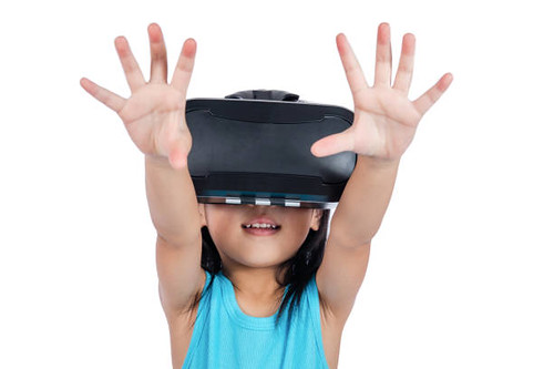 Asian little Chinese girl experiencing virtual reality via VR goggles - Credit to https://www.lyncconf.com/