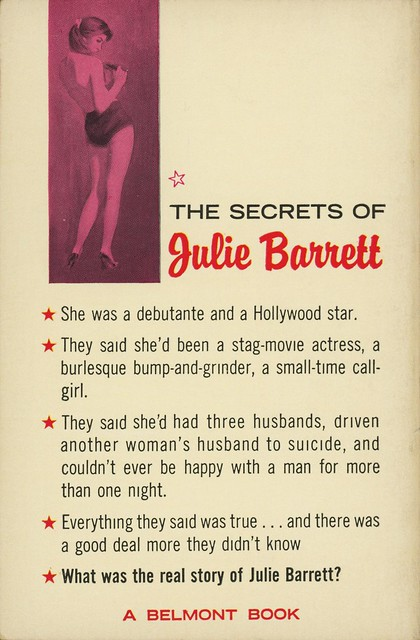 Belmont Books 91-253 - Morton Cooper - The Private Life of a Strip-Tease Artist (back)