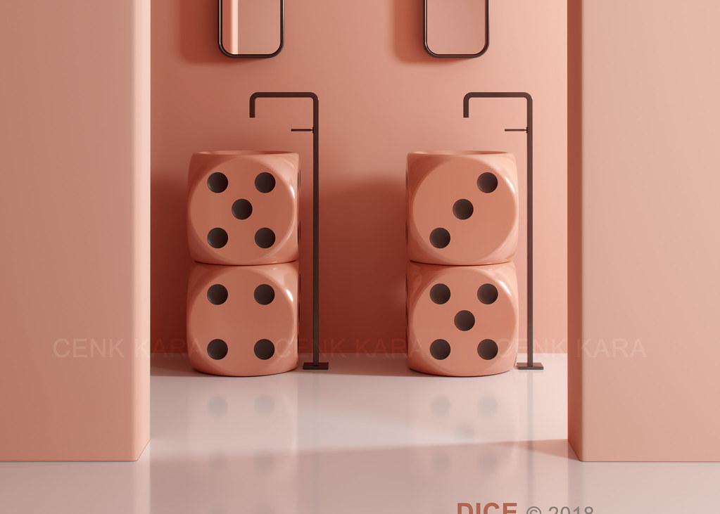 DICE freestanding washbasin concept - Bathroom interior